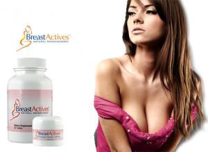 Breast Actives - Pilules d'élargissement naturel du sein plus crème